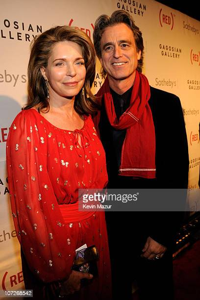 Queen Noor and Bobby Shriver arrive at Sotheby's Bono and Damien Hirst Host The Auction to Benefit AIDS in Africa on February 14 2008 in New York City
