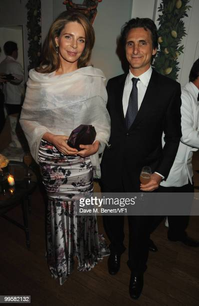 Queen Noor of Jordan and producer Lawrence Bender attend the Vanity Fair and Gucci Party Honoring Martin Scorsese during the 63rd Annual Cannes Film...