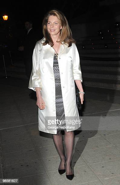 Queen Noor of Jordan arrives at New York State Supreme Court for the Vanity Fair Party during the 2010 Tribeca Film Festival on April 20 2010 in New...