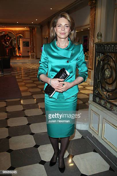 Queen Noor of Jordan the widow of the late King Hussein is pictured before being awarded of the Global Water Price at Pavillon d'Armenonville on...