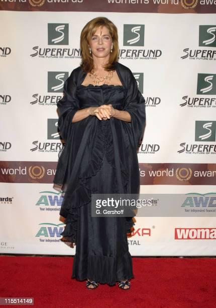 Queen Noor of Jordan World Tolerance Award during The 2006 Women's World Awards Media Room at The Hammerstein Ballroom in New York City New York...