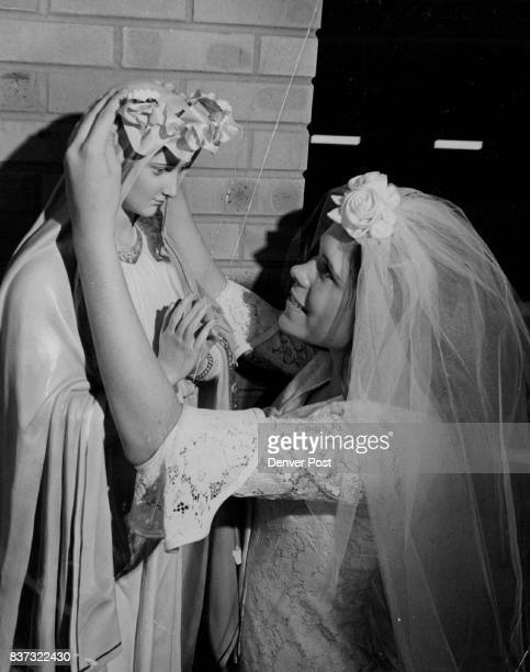 Queen of Angles And of May 'Oh Mary we crown Thee with 'blo'ssoms today queen of the angels queen of monthbelieved to be the lovelist of the year...