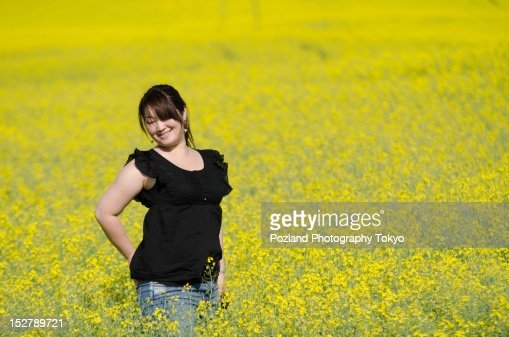 Queen of Canola : Stock Photo