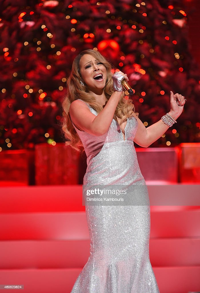Queen Of Christmas Mariah Carey performs her holiday smash hits at the Beacon Theatre on December 15 2014 in New York City