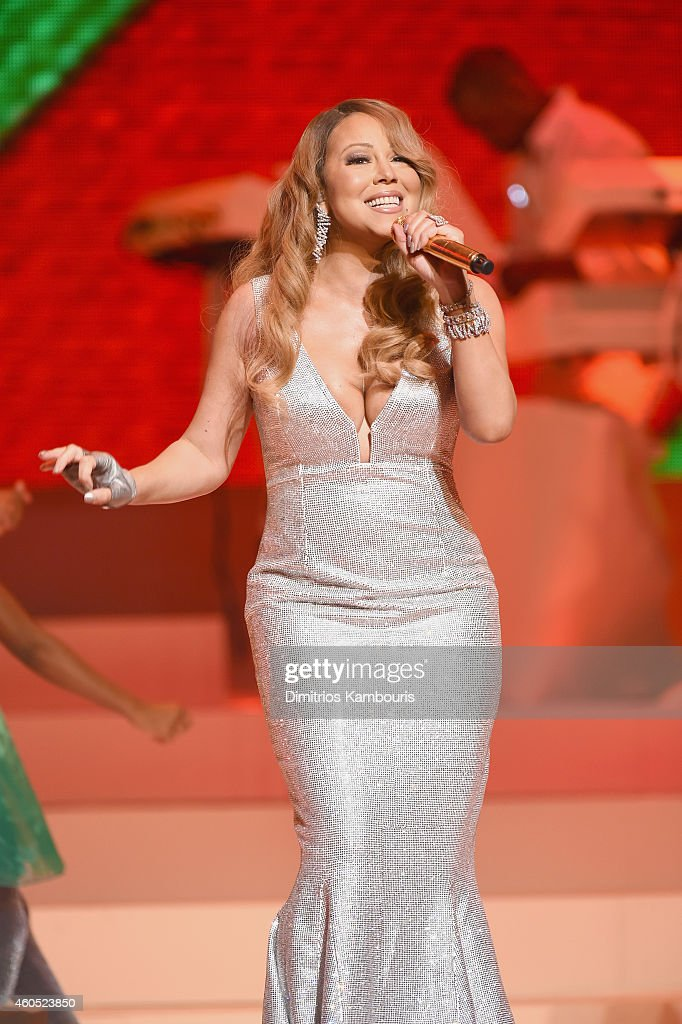 Queen Of Christmas, <a gi-track='captionPersonalityLinkClicked' href=/galleries/search?phrase=Mariah+Carey&family=editorial&specificpeople=171647 ng-click='$event.stopPropagation()'>Mariah Carey</a> performs her holiday smash hits at the Beacon Theatre on December 15, 2014 in New York City.