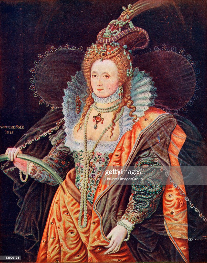 I 1533 1603 Queen Of England From The Painting By
