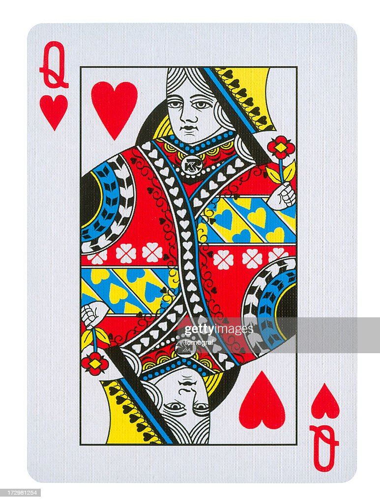 Queen Of Hearts Isolated (clipping path included)