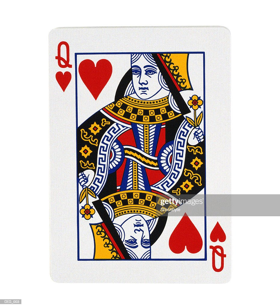 Queen of Hearts playing card : Stock Photo