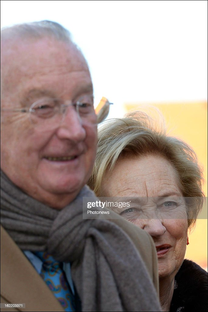 Queen Paola and King <a gi-track='captionPersonalityLinkClicked' href=/galleries/search?phrase=Albert+II+of+Belgium&family=editorial&specificpeople=159444 ng-click='$event.stopPropagation()'>Albert II of Belgium</a> visit the exhibition 'L'Hopital de la Reine - Croix Rouge, L'Ocean et la Panne 1914-1918' at De Scharbiellie La Panne cultural centre on February 20, 2013 in De Panne, Belgium.