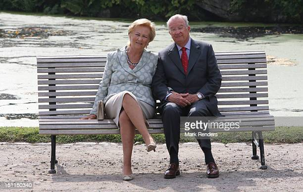 Queen Paola and King Albert of Belgium attend the Belgian Royal Family official photocall at Laeken Castle on September 2 2012 in Brussels Belgium
