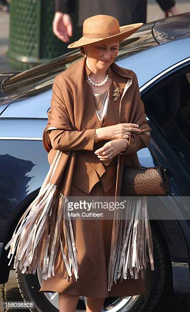 Queen Paola Attends The Civil Wedding Ceremony Of Prince Laurent Of Belgium Claire Coombs At The Town Hall Brussels
