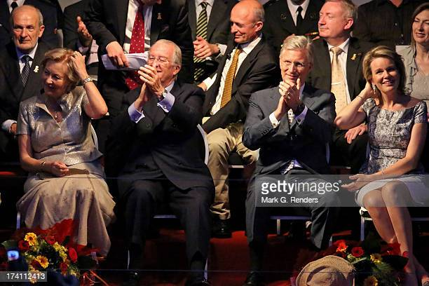 Queen Paola King Albert II of Belgium Prince Philippe of Belgium and Princess Mathilde of Belgium attend the 'Bal National' Held Ahead Of Belgium...