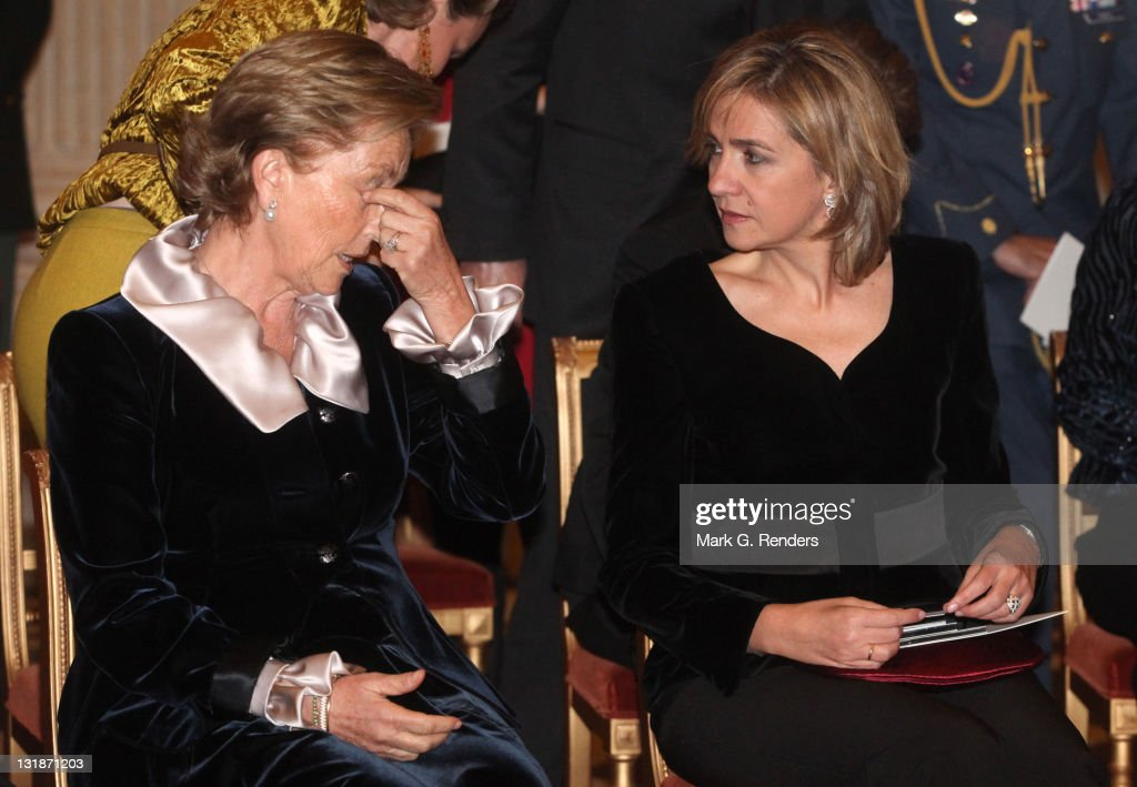 Queen Paola of Belgium and Her Royal Highness Infanta Cristina of Spain attend a concert at Laeken Castle at Laeken Castle on November 16, 2010 in Brussels, Belgium.