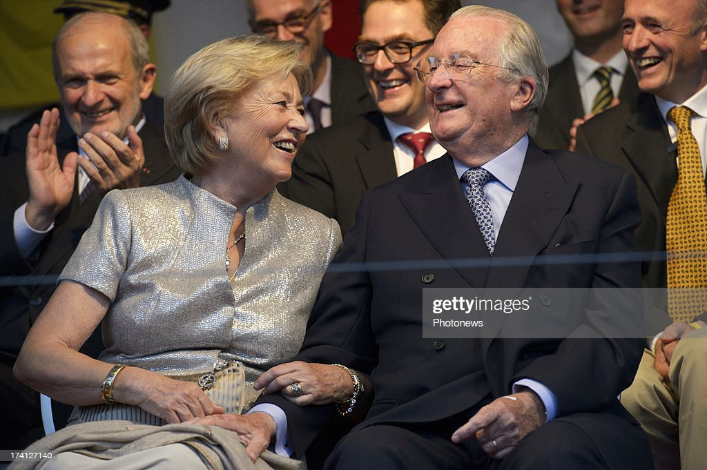 Queen Paola of Belgium and King <a gi-track='captionPersonalityLinkClicked' href=/galleries/search?phrase=Albert+II+of+Belgium&family=editorial&specificpeople=159444 ng-click='$event.stopPropagation()'>Albert II of Belgium</a> attend an evening of concerts the 'Bal National' in the Marolles neighbourhood of Brussels on July 20, 2013 in Brussels, Belgium. Tomorrow on Belgium's National Day King Albert II will abdicate in favour of his son Prince <a gi-track='captionPersonalityLinkClicked' href=/galleries/search?phrase=Philippe+of+Belgium&family=editorial&specificpeople=160209 ng-click='$event.stopPropagation()'>Philippe of Belgium</a>.