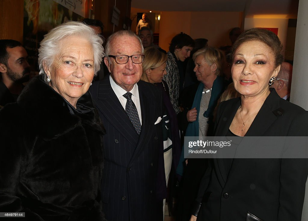 Queen Paola of Belgium and King Albert II of BelgiumnSMI Farah Pahlavi attend the 'Talking to the Trees-Retour a la Vie' Paris screening at Cinema l'Arlequin on March 2, 2015 in Paris, France.
