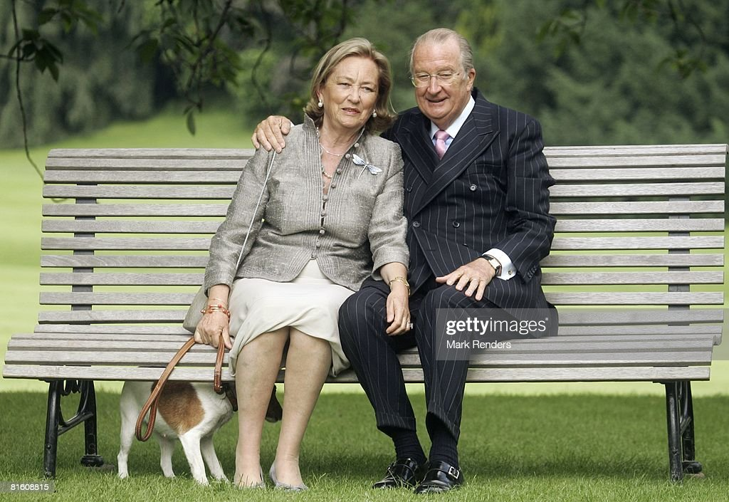Queen Paola of Belgium and King Albert of Belgium attend a press photocall at Laeken Castle on June 17, 2008 in Brussels, Belgium..