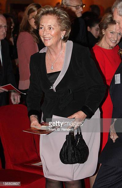 Queen Paola of Belgium assists Queen Paola's Foundation Annual Christmas Concert at Hotel Le Plaza on December 8 2011 in Brussels Belgium