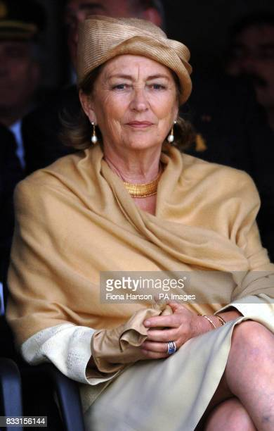Queen Paola of Belgium at the Tyne Cot War Cemetary Passchendaele during a ceremony for WWI Commonwealth soldiers