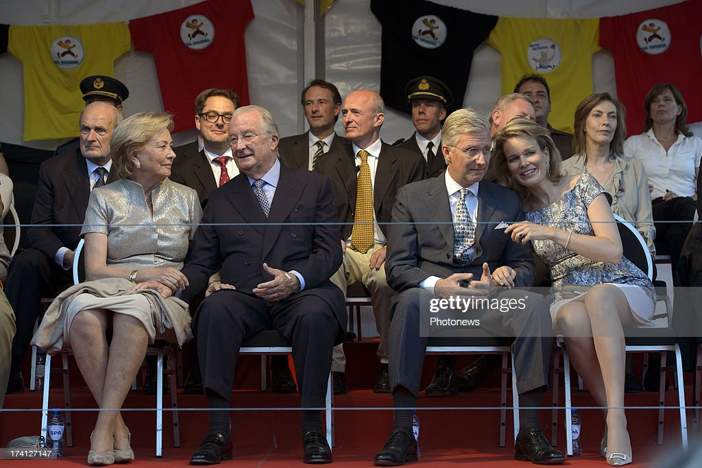 Queen Paola of Belgium, King Albert II of Belgium, Prince Philippe of Belgium and Princess Mathilde of Belgium attend an evening of concerts the 'Bal National' in the Marolles neighbourhood of Brussels on July 20, 2013 in Brussels, Belgium. Tomorrow on Belgium's National Day King Albert II will abdicate in favour of his son Prince Philippe of Belgium.