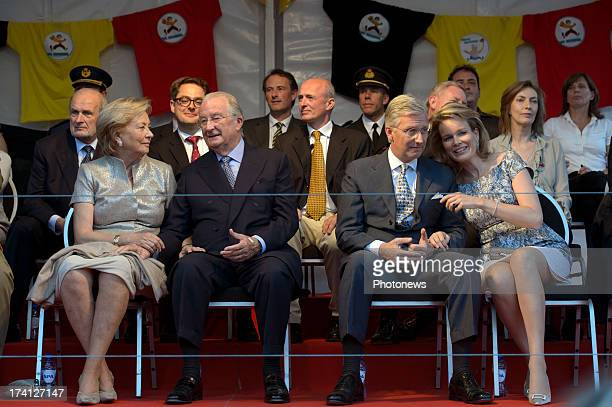 Queen Paola of Belgium King Albert II of Belgium Prince Philippe of Belgium and Princess Mathilde of Belgium attend an evening of concerts the 'Bal...
