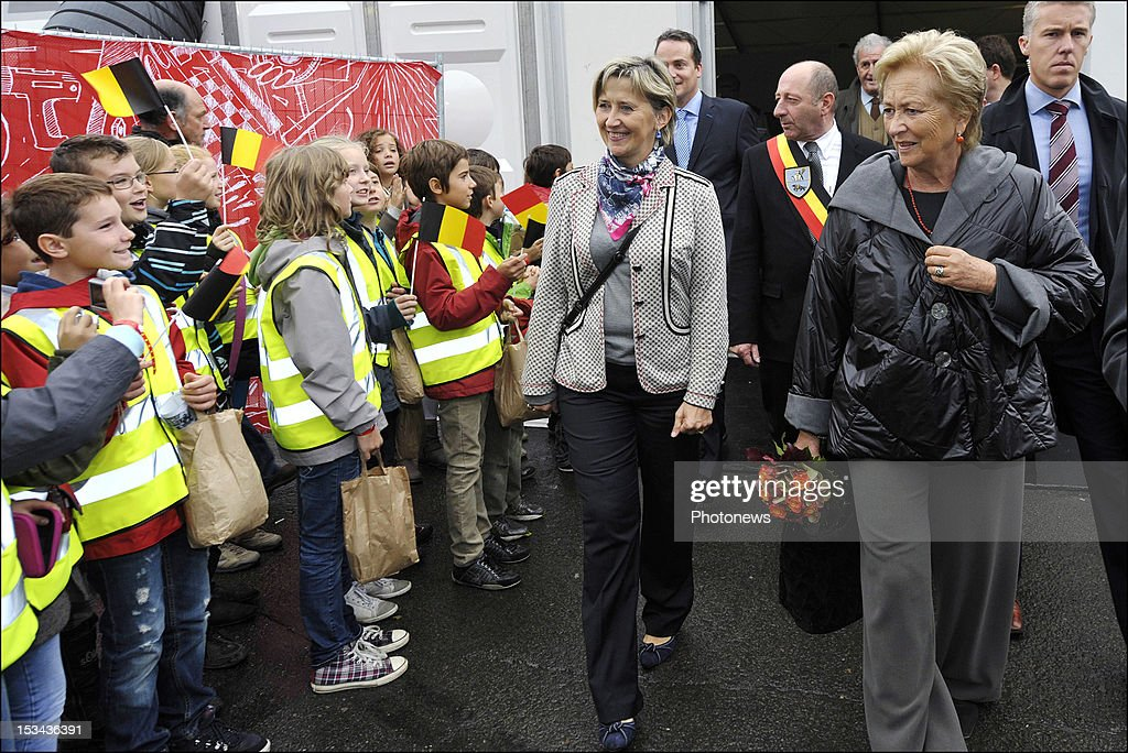 Queen Paola of Belgium pictured during her visit to the Euroskilss event on October 5, 2012 in Spa, Belgium.