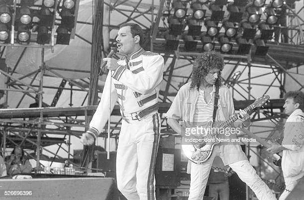 Queen performing at Slane Castle It was Queen's final tour with Freddie Mercury as lead singer 5/7/86 Photographer Martin Nolan
