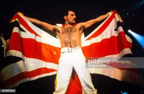 Queen plays Knebworth the last concert on the Magic Tour on August 09 1986 in Knebworth United Kingdom 170612F1