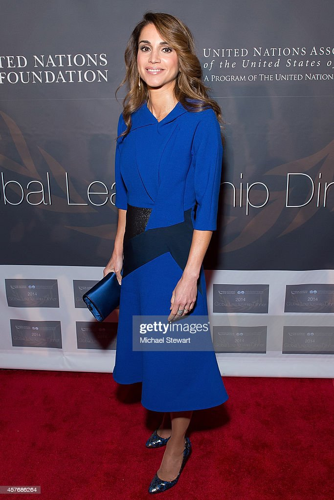 Queen Rania Al Abdullah attends the 2014 Global Leadership Dinner at Cipriani 42nd Street on October 22, 2014 in New York City.