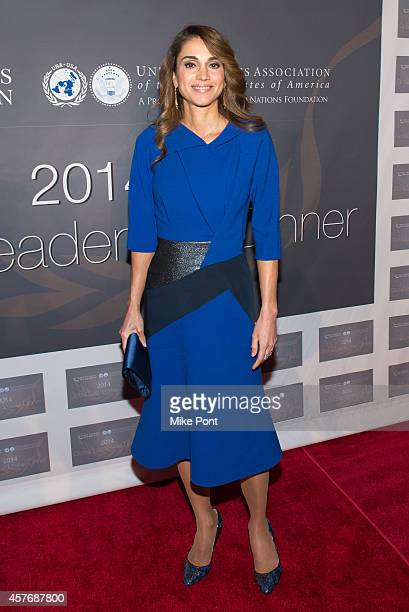 Queen Rania Al Abdullah attends the 2014 Global Leadership Dinner at Cipriani 42nd Street on October 22 2014 in New York City