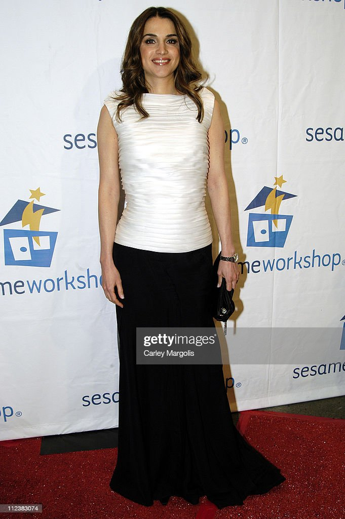 Queen Rania Al-Abdullah of Jordan during Barbara Walters and Elmo Host Sesame Workshop's Third Annual Benefit Gala at Cipriani 42nd Street in New York City, New York, United States.