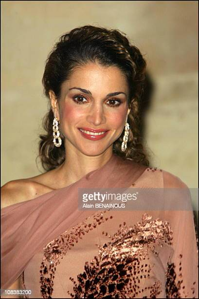 Queen Rania in Versailles France on September 30 2002