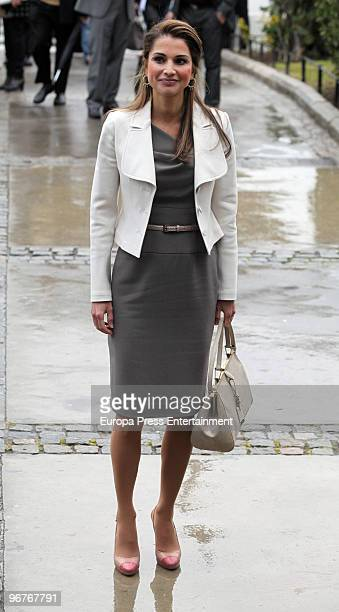 Queen Rania of Jordan Attends Mobile World Congress in Barcelona on February 16 2010 in Barcelona Spain