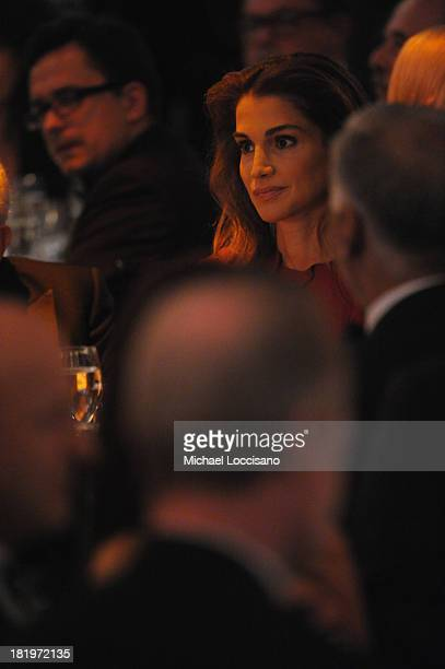 Queen Rania of Jordan attends the 2013 Global Citizen Awards Ceremony on September 26 2013 in New York City