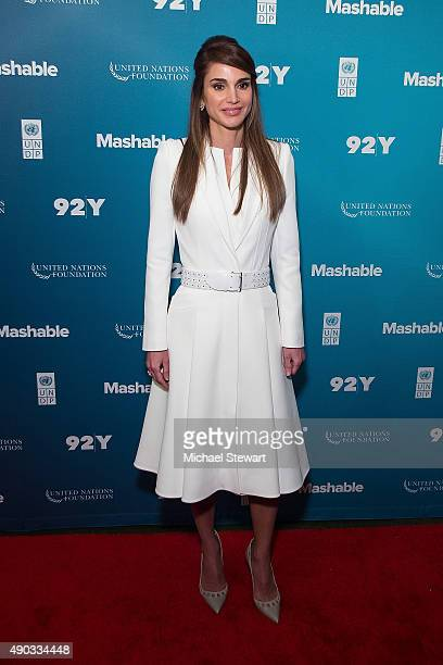 Queen Rania of Jordan attends the 2015 Social Good Summit Day 1 at 92Y on September 27 2015 in New York City