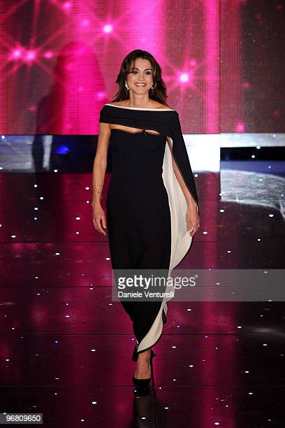 Queen Rania Of Jordan attends the 60th Sanremo Song Festival at the Ariston Theatre On February 17 2010 in San Remo Italy