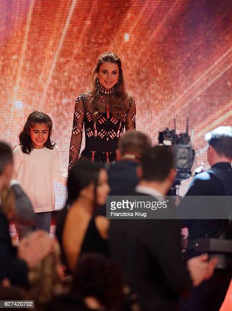 Queen Rania of Jordan attends the Ein Herz Fuer Kinder Gala show on December 3 2016 in Berlin Germany
