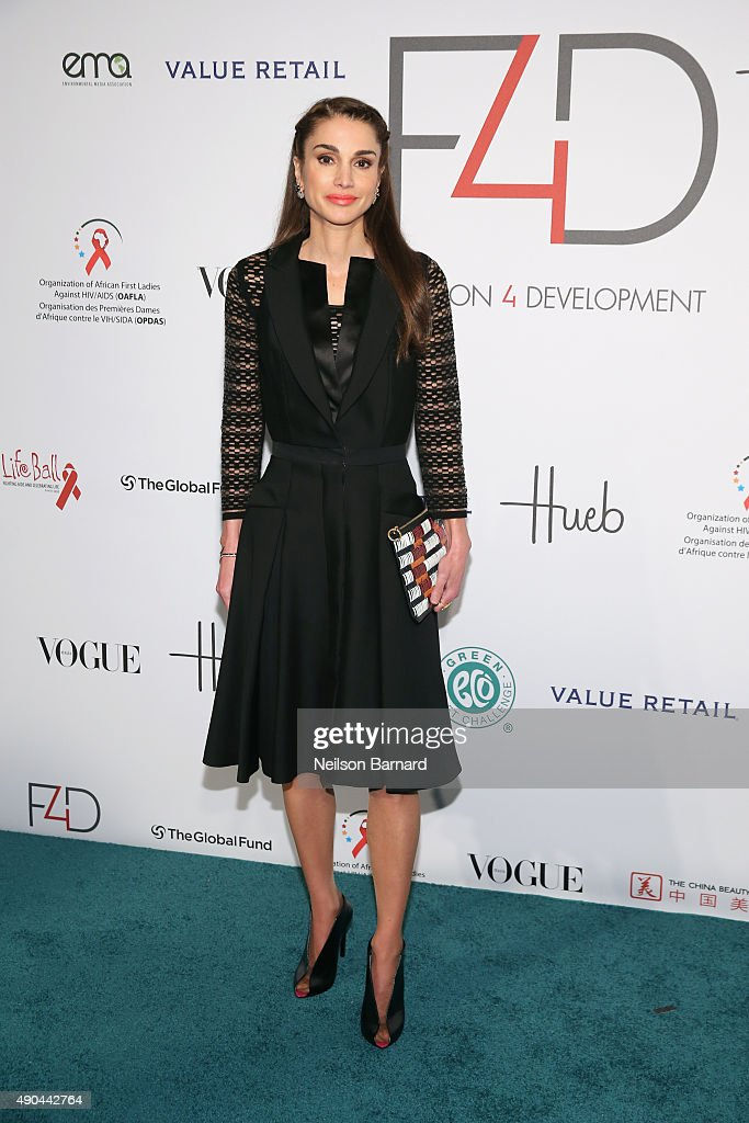 Queen Rania of Jordan attends the Fashion 4 Development's 5th annual Official First Ladies luncheon at The Pierre Hotel on September 28 2015 in New...