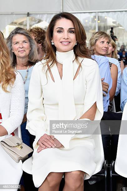 Queen Rania of Jordan attends the Medef Summer 2015 University Conference on August 26 2015 in JouyenJosas France