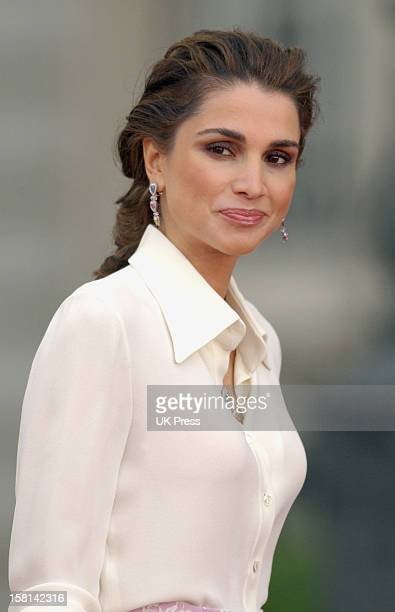 Queen Rania Of Jordan Attends The Wedding Of Crown Prince Felipe Of Spain Letizia Ortiz Rocasolano In Madrid