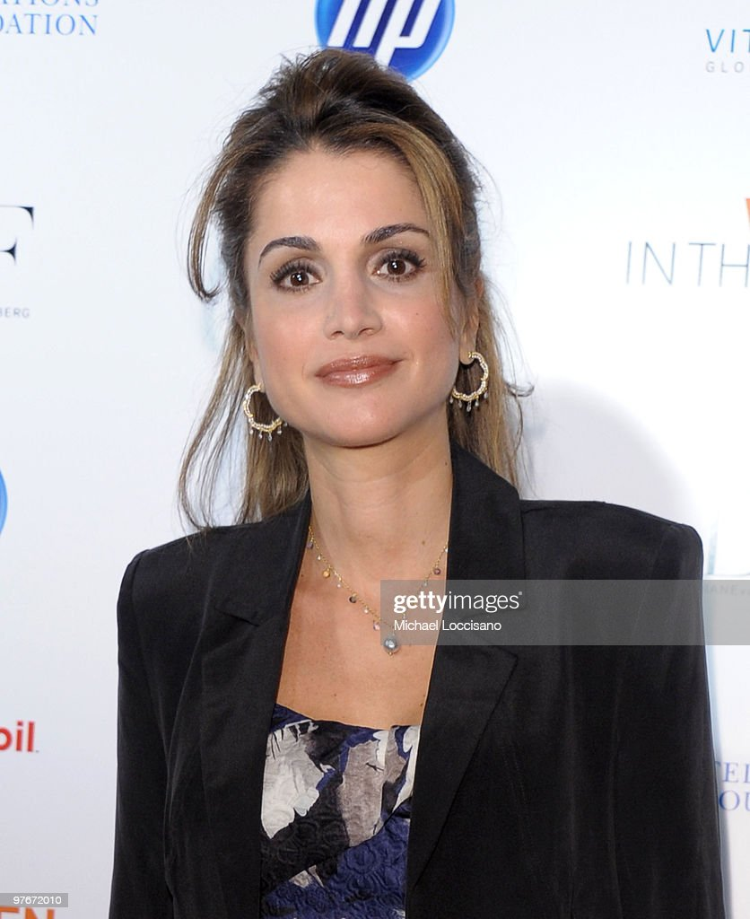 Queen Rania of Jordan attends the 'Women In The World: Stories and Solutions' global summit at Hudson Theatre on March 12, 2010 in New York City.