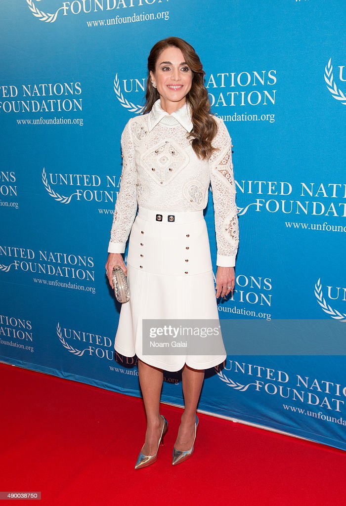 <a gi-track='captionPersonalityLinkClicked' href=/galleries/search?phrase=Queen+Rania+of+Jordan&family=editorial&specificpeople=160330 ng-click='$event.stopPropagation()'>Queen Rania of Jordan</a> attends UN Foundation's gender equality discussion at The Four Seasons Restaurant on September 25, 2015 in New York City.