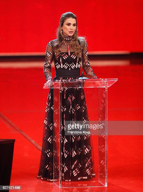 Queen Rania of Jordan during the Ein Herz Fuer Kinder Gala show on December 3 2016 in Berlin Germany