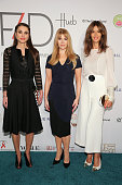 Queen Rania of Jordan F4D Founder Evie Evangelou and Sara Cavazza Facchini attend the Fashion 4 Development's 5th annual Official First Ladies...