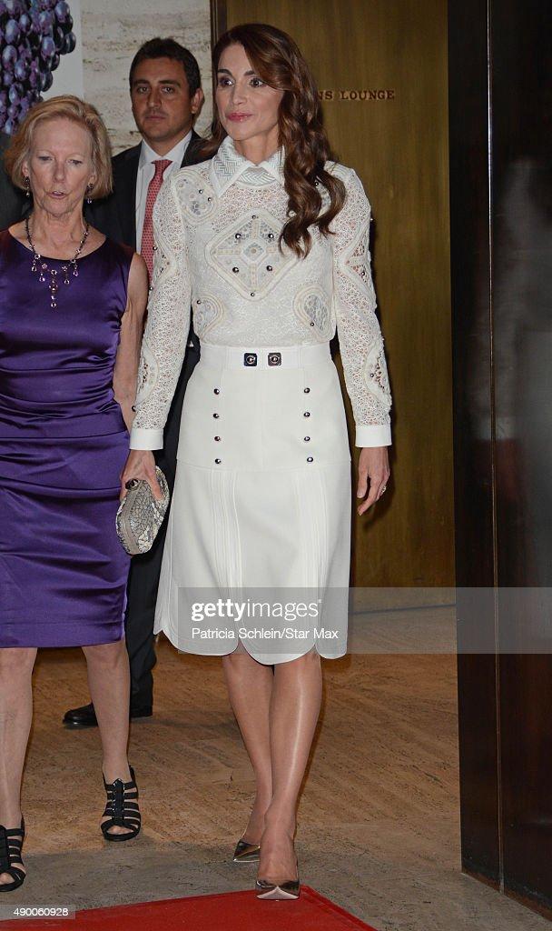 Queen Rania of Jordan is seen on September 25 2015 in New York City