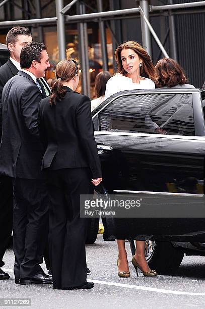 Queen Rania of Jordan leaves the Sheraton New York Hotel on September 24 2009 in New York City