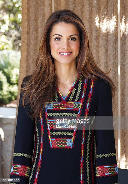 Queen Rania of Jordan pictured in this undated photograph supplied by The Royal Hashemite Court