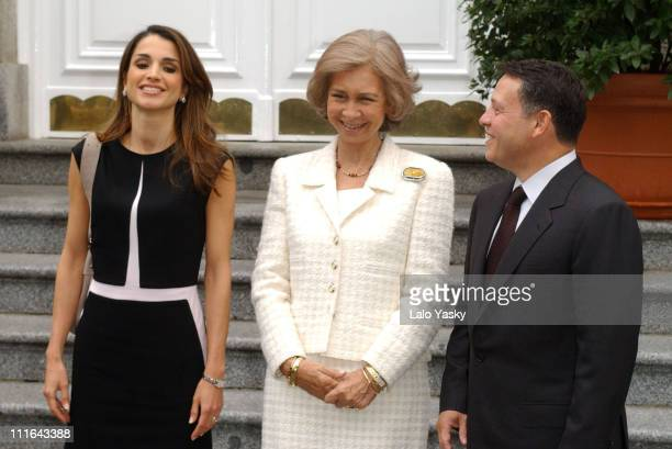 Queen Rania of Jordan Queen Sofia and King Abdullah of Jordan
