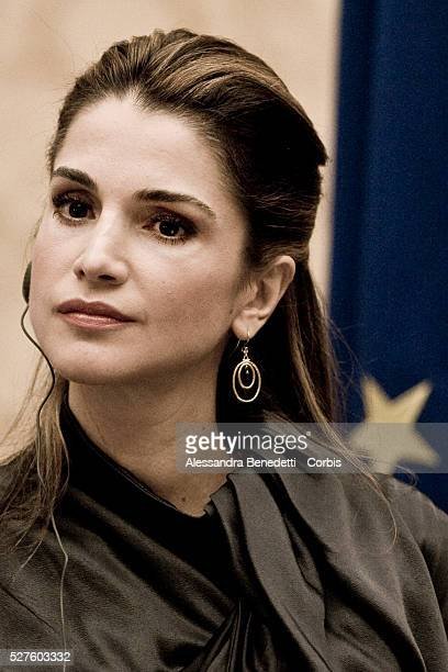 Queen Rania of Jordan receives the international 'Marisa Bellisario' award at the Italian Chamber of Deputies