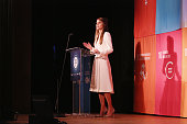 Queen Rania of Jordan speaks during the 2015 Social Good Summit at 92Y on September 27 2015 in New York City