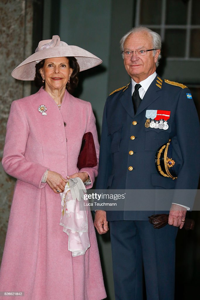Queen Silvia and King Carl Gustaf of Sweden attend the celebrations of the Swedish Armed Forces for the 70th birthday of King Carl Gustaf of Sweden on April 30, 2016 in Stockholm, .
